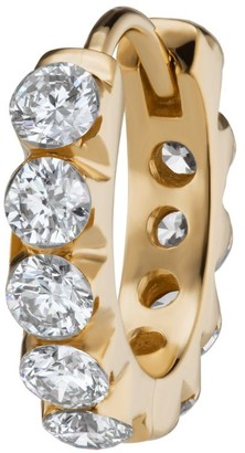 Maria Tash 8Mm Yellow Gold And Diamond Eternity Invisible Set Ring