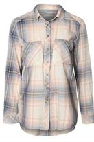 Dex Blush Plaid Buttonup