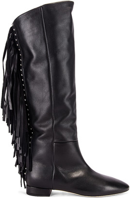 Saint Laurent Nina Tassel Boots in Black | FWRD