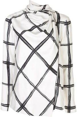 Jason Wu Collection Checked Print Blouse
