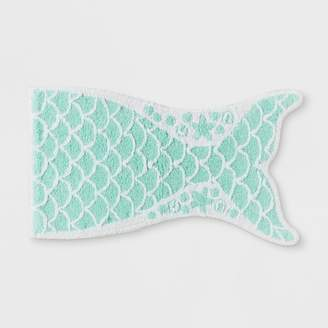 Pillowfort Mermaid Tail Bath Rug Crystalized Green - Pillowfort