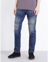 True Religion Rocco Simple Moto Slim-fit Tapered Jeans