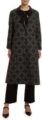 Valentino Single-Breasted Wool-Silk Coat