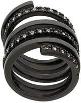Federica Tosi crystal embellished spiral ring