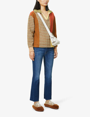 Mother The Hustler flared high-rise stretch-denim jeans
