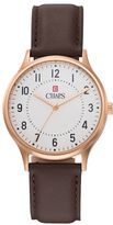 Chaps Men's Leather Watch