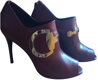 Gucci Burgundy Leather Heels