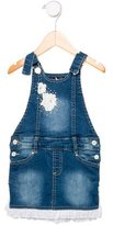 Miss Blumarine Girls' Denim Overall Dress w/ Tags