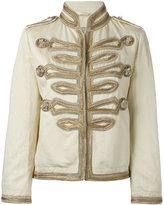Ermanno Scervino high neck boxy jacket - women - Cotton/Linen/Flax - 40