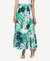Ann Taylor Palm Leaf Maxi Skirt
