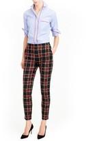 J.Crew Women's Martie Stewart Plaid Stretch Wool Pants