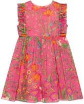 Gucci Children's New Flora Daisy print cotton dress