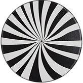 Lisa Perry Optical Vinyl Placemat-BLACK