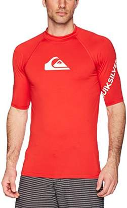 Quiksilver Men's All Time Short Sleeve Rashguard Swim Shirt UPF 50+