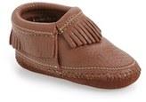 Minnetonka Infant Girl's 'Riley' Deerskin Leather Bootie