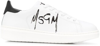 MSGM logo-print low-top trainers