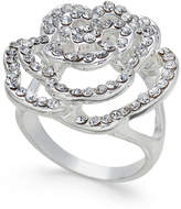 INC International Concepts I.N.C. Silver-Tone Pavé Rose Ring, Created for Macy's