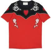 Gucci Flower print cotton t-shirt