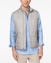 Tasso Elba Men's Linen Tuscan Quilted Vest with Faux Suede Trim, Only at Macy's