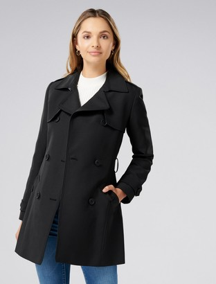 Forever New Aaliyah Petite Trench Coat - Black - 6