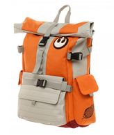 Bioworld Orange & Khaki Rebel Pilot Backpack