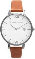 Olivia Burton 'Timeless' Leather Strap Watch, 38mm