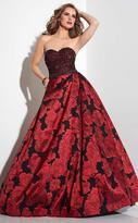 Panoply - Embellished Sweetheart Floral Print Ball Gown 14822