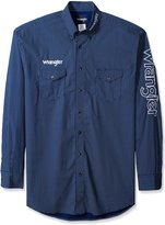 Wrangler Men's Big and Tall Embroidered Logo Woven Shirt