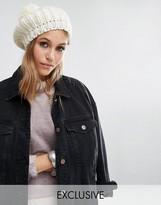 Reclaimed Vintage Chunky Knitted Pom Pom Beret