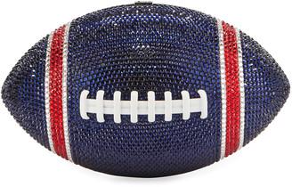 Judith Leiber Game Ball Football Crystal Clutch Bag, Blue/Red