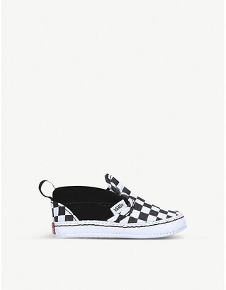 Vans Chequer slip-on suede-canvas shoes 0-1 years