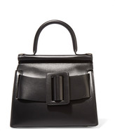 Boyy Karl24 Small Buckled Leather Tote - Black