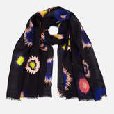 Paul Smith Women's Pow Embroidered Scarf Black