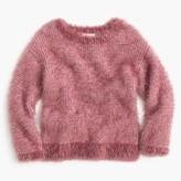 J.Crew Girls' fuzzy wool-blend popover sweater