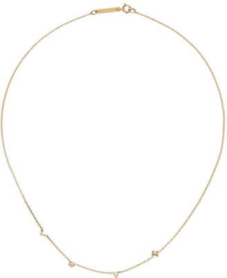 Zoë Chicco 14kt yellow gold Love necklace
