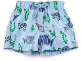 Vilebrequin Jim Embroidered Moonfish Swim Trunks, Blue, Boys' 2-8
