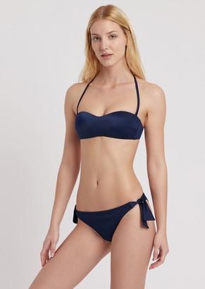 Emporio Armani Bandeau Bikini With Brazilian Briefs