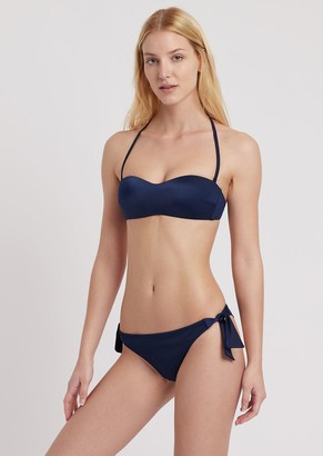 Ea7 Bandeau Bikini With Brazilian Briefs
