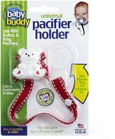Baby Buddy Universal Pacifier Holder, Red with White Stitch by