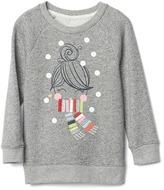 Gap Graphic raglan sweatshirt tunic