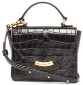 Wandler Luna Mini Crocodile-effect Leather Cross-body Bag - Womens - Black