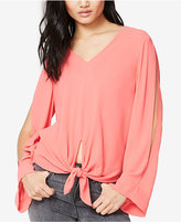 Rachel Roy Tie-Front Cold-Shoulder Blouse, Only at Macy's
