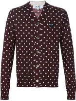Comme des Garcons embroidered heart polka dot cardigan - men - Wool - M