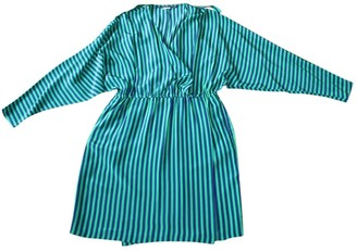 Les Prairies de Paris Green Silk Dress for Women