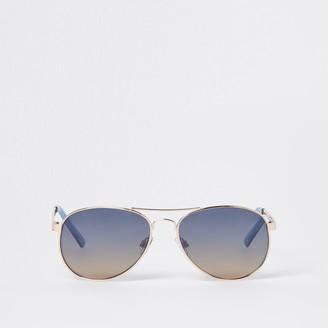 River Island Womens Blue aviator sunglasses