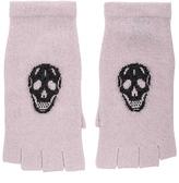 360 Sweater Skull Gloves in Pink.