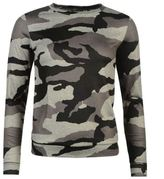 Golddigga Womens Coordinating Sweater Camouflage Stretch Pullover Long Sleeve