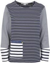 Stella McCartney Pure White/navy Stripe T-shirt