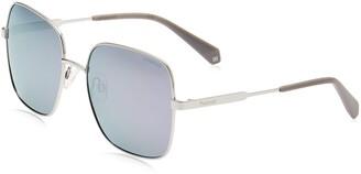 Polaroid Women's Pld 6060/s 201352B6E57MF Square Sunglasses 57 mm
