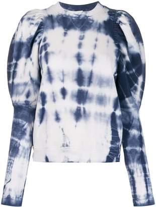 Ulla Johnson tie-dye long sleeve sweatshirt